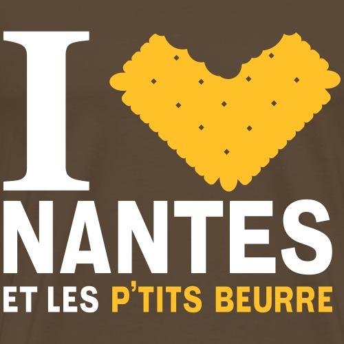 I love Nantes et les Petits Beurre - T-shirt Premium Homme