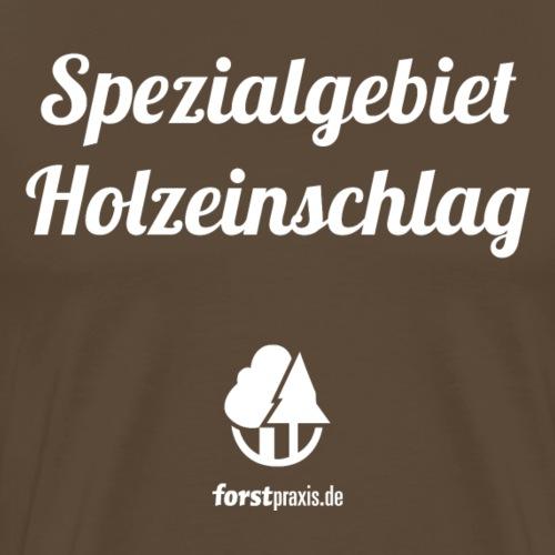 forstpraxis Holzeinschlag weiß - Männer Premium T-Shirt