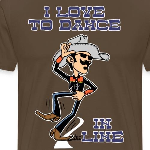 i love to dance in line road - Mannen Premium T-shirt