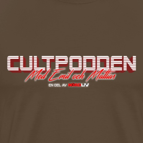 Cultpodden - Bara Text - Premium-T-shirt herr
