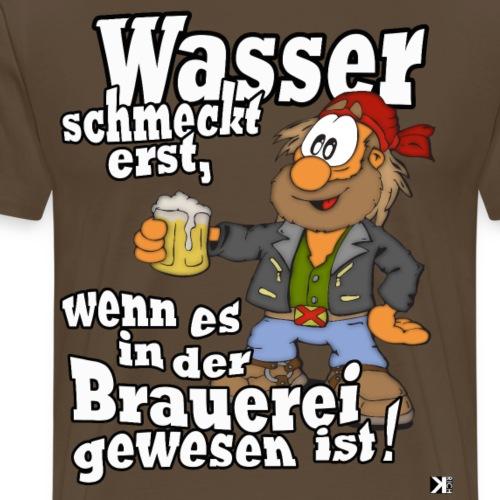 Wasser schmeckt! Bier Vatertag Mallorca Shirt 2019 - Männer Premium T-Shirt