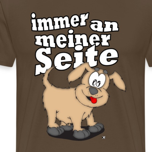 Mein Hund ist immer an meiner Seite - Männer Premium T-Shirt