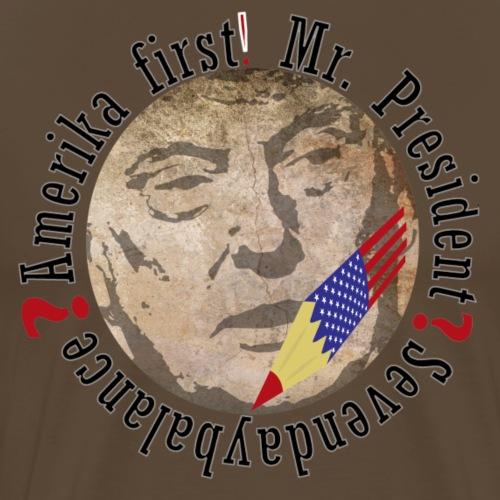 Amerika first - Männer Premium T-Shirt