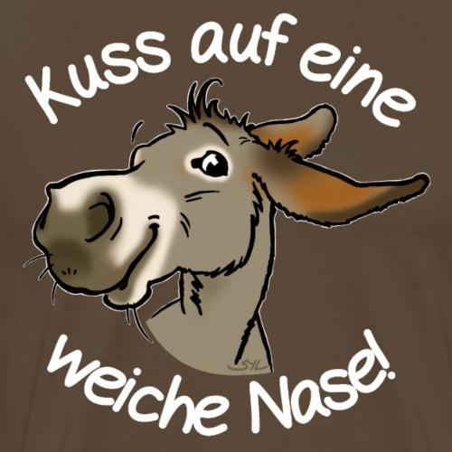 Esel Kuss (Text weiss) - T-shirt Premium Homme