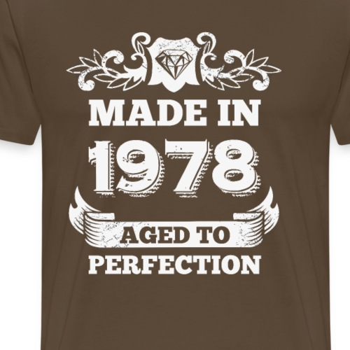 40th Birthday gift Made in 1978 Aged to Perfection - Men's Premium T-Shirt