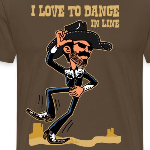 I love to dance in line monumentvalley - Mannen Premium T-shirt