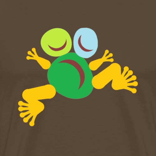 Frog Green Totem - T-shirt Premium Homme