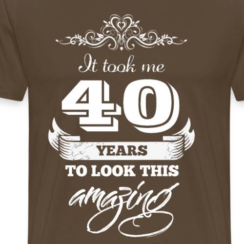 It Took Me 40 Years to Look This Amazing Vintage - Men's Premium T-Shirt