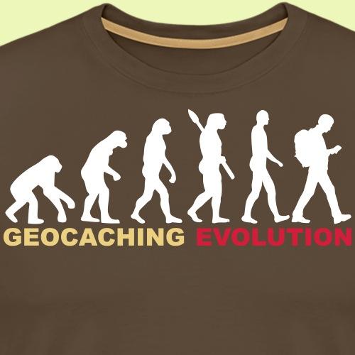 Geocaching Evolution - 3-farbiger Flexdruck - Männer Premium T-Shirt