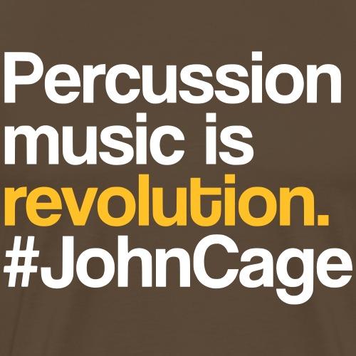 John Cage - Percussion Music (Schlagzeug Motiv) - Männer Premium T-Shirt