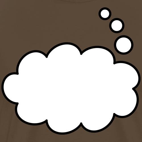 Text Balloon (thought 2 colours) - Men's Premium T-Shirt