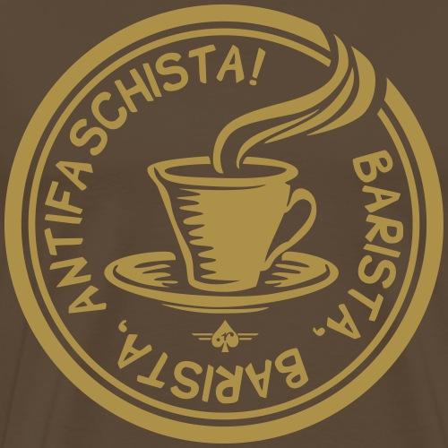 barista antifaschista - Männer Premium T-Shirt