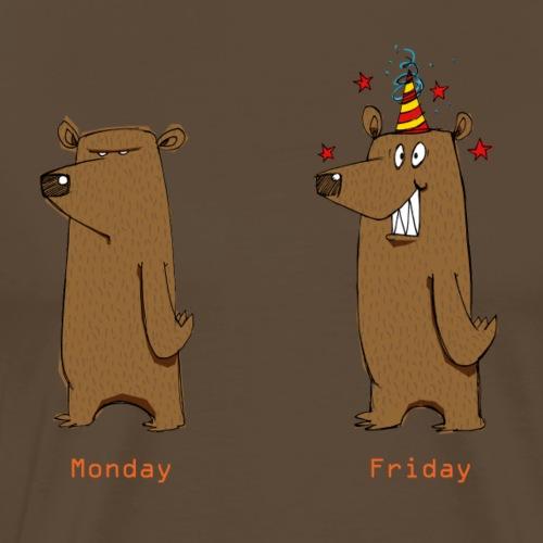 Odio il lunedì Love Friday Lavora per sopportare la settimana - Maglietta Premium da uomo