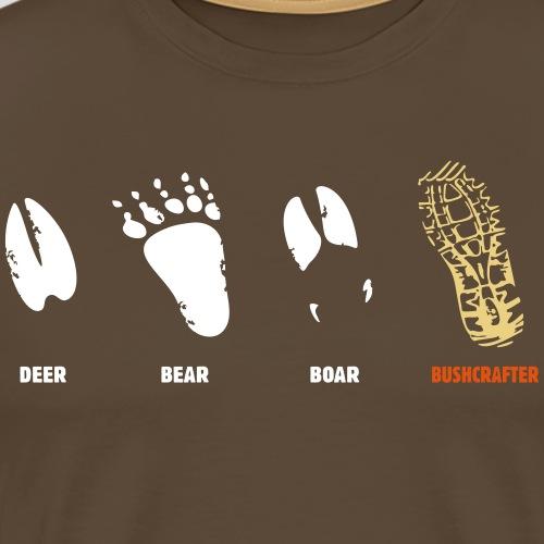Bushcraft Survival Fußspuren Wald Wild Überleben - Männer Premium T-Shirt