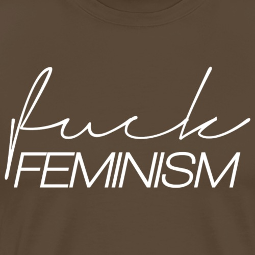 FuckFeminism_white - T-shirt Premium Homme