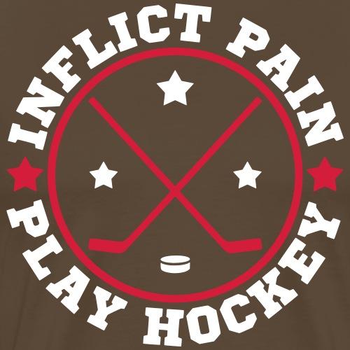 Inflict Pain Play Hockey - Men's Premium T-Shirt