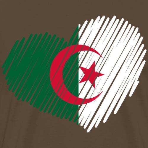 coeur Algérie drapeau - T-shirt Premium Homme