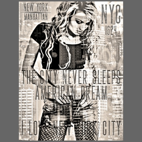 NEW YORK - THE CITY NEVER SLEEPS - DB #1 (HKL) - Männer Premium T-Shirt