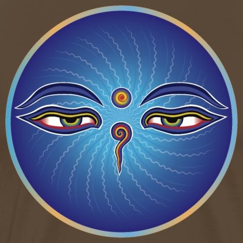 Buddha Eyes In Circle. Mandala - Men's Premium T-Shirt
