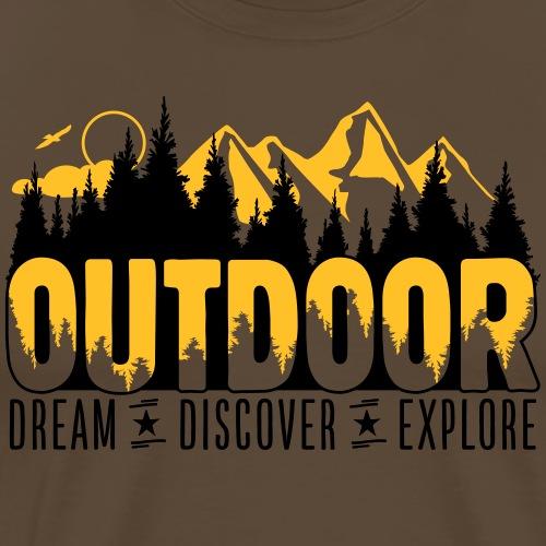 Outdoor - Dream Discover Explore - Männer Premium T-Shirt