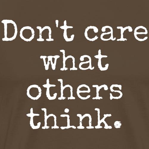 Don't care - Maglietta Premium da uomo