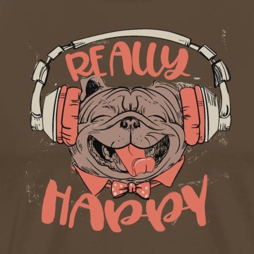 Glücklicher Mops - Be really happy Hund mit Musik