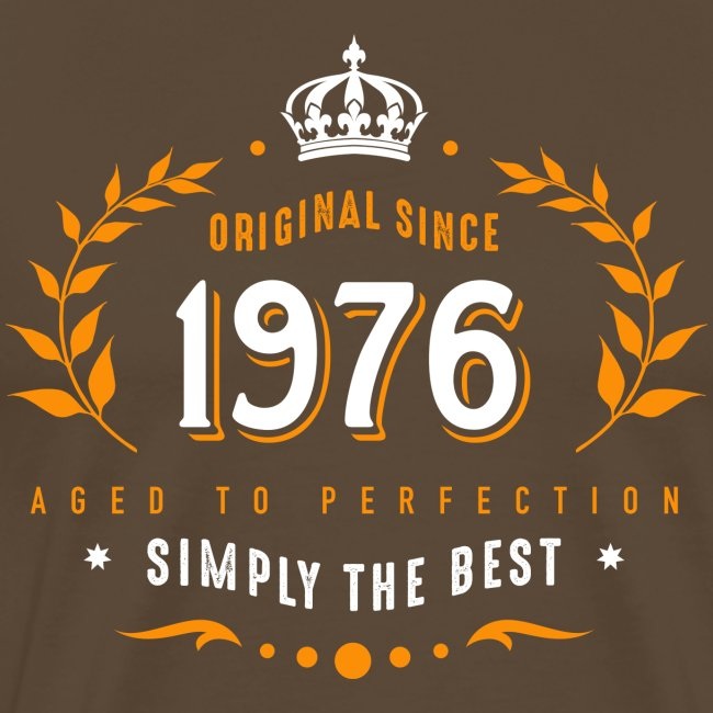 original since 1976 simply the best 40th birthday