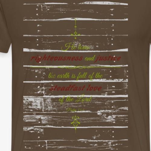 Psalm 35 - Mannen Premium T-shirt
