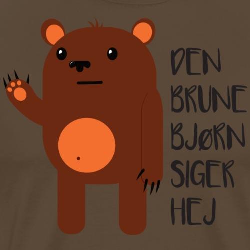 Den Brune Bjørn - Herre premium T-shirt