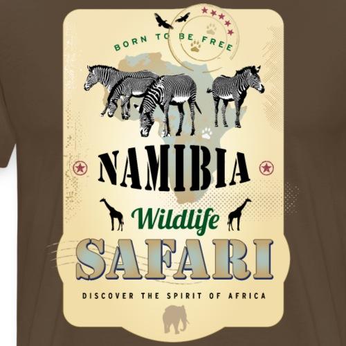 Zebras Wildlife Safari Namibia Afrika Abenteuer - Men's Premium T-Shirt