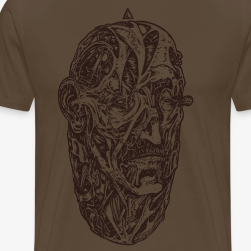 Egg (brun) - T-shirt Premium Homme