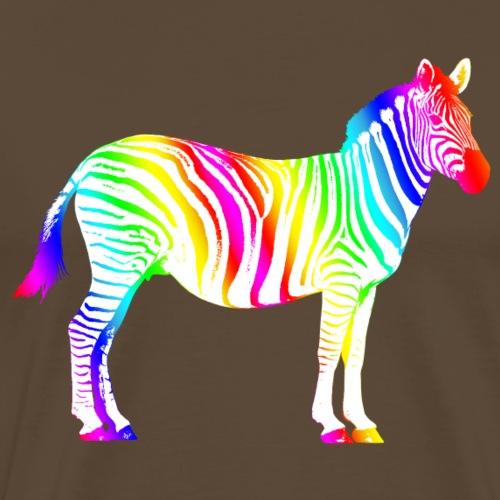 Zebra Afrika Equus Regenbogen Safari Sommer Magie - Men's Premium T-Shirt