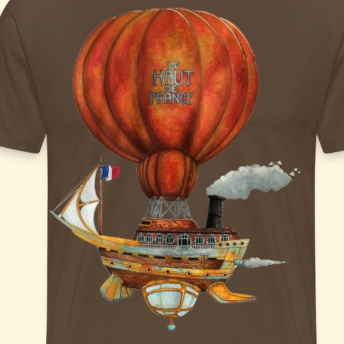 Le Haut-de-France - Bateau Steampunk Ch'ti - T-shirt Premium Homme