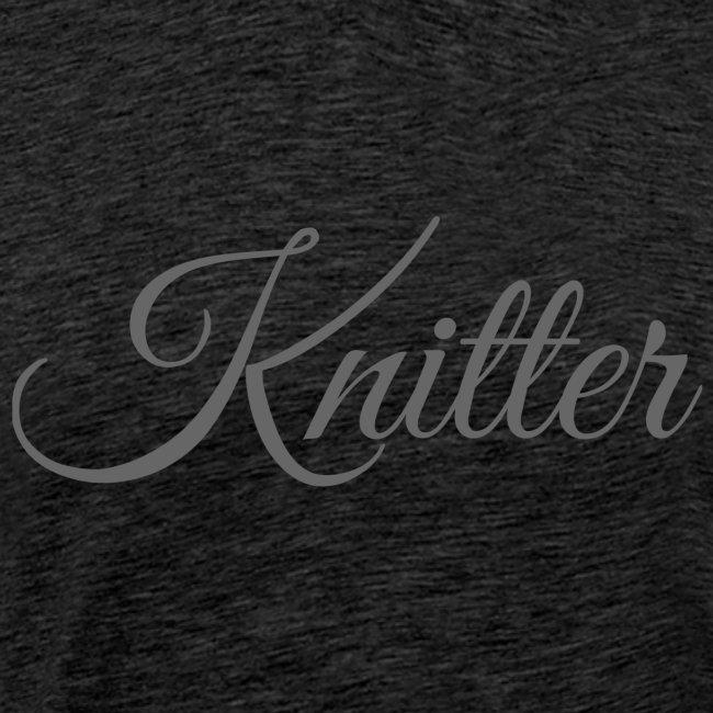 Knitter, dark gray