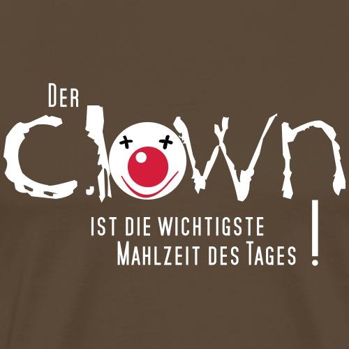 Clown gefrühstückt - Männer Premium T-Shirt