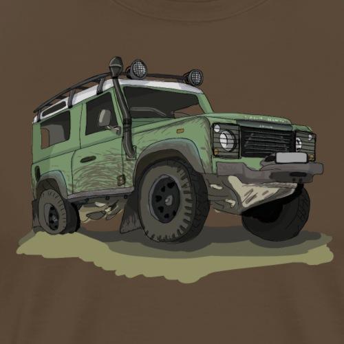 Englische Geländewagen Offroad Ikone - Ninety - Männer Premium T-Shirt