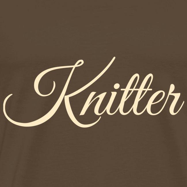 Knitter, tan