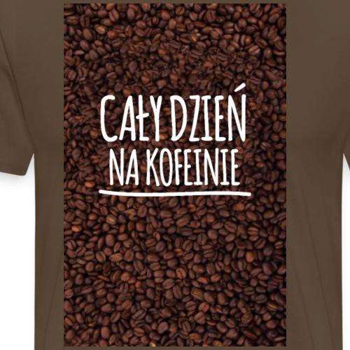 Cały dzień na kofeinie - Koszulka męska Premium