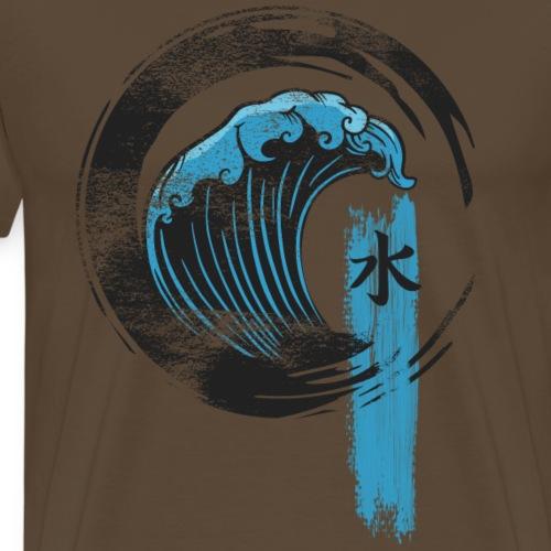 Große Welle Kanagawa Schriftzeichen Vintage - Männer Premium T-Shirt