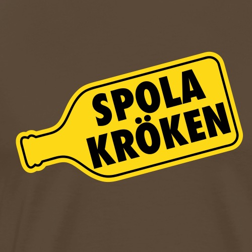 Spola kröken - Premium-T-shirt herr