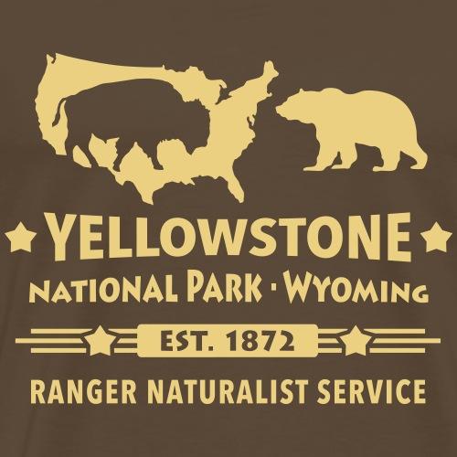Buffalo Bison Grizzly Yellowstone Nationalpark USA - Men's Premium T-Shirt