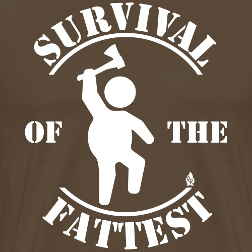 Survival Of The Fattest - Männer Premium T-Shirt
