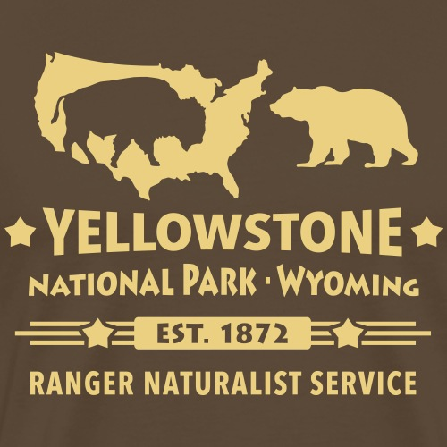Buffalo Bison Grizzly Yellowstone Nationalpark USA - Men's Premium T-Shirt