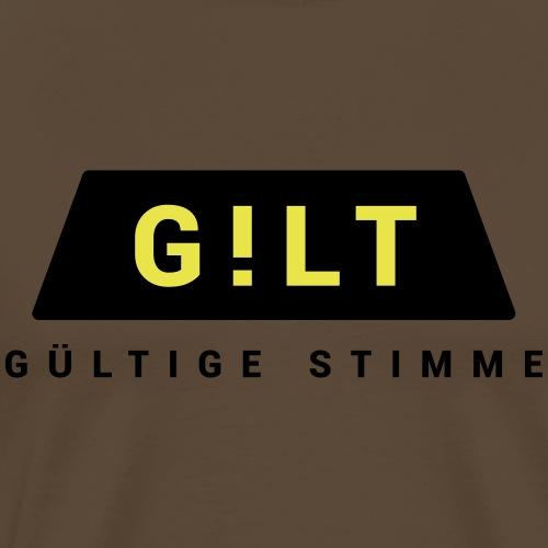 GILT TAXI GÜLTIGE STIMME - Männer Premium T-Shirt