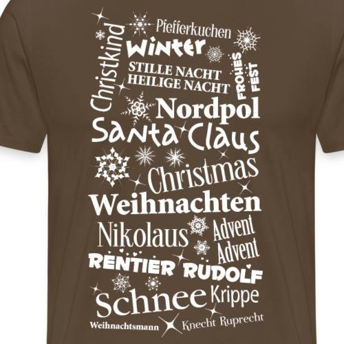 Weihnachten Christmas Santa Nikolaus Schnee - Men's Premium T-Shirt