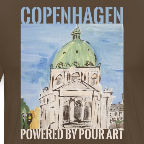 Marmorkirken by Pour art - Herre premium T-shirt