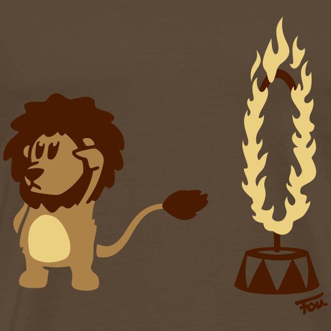 Löwe Feuer (bunt)