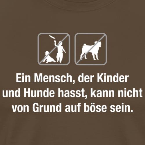 keine Kinder keine Hunde bitte Zitat W. C. Fields - Men's Premium T-Shirt