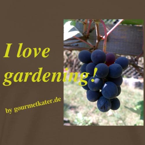 Weintraube - I love gardening - Männer Premium T-Shirt