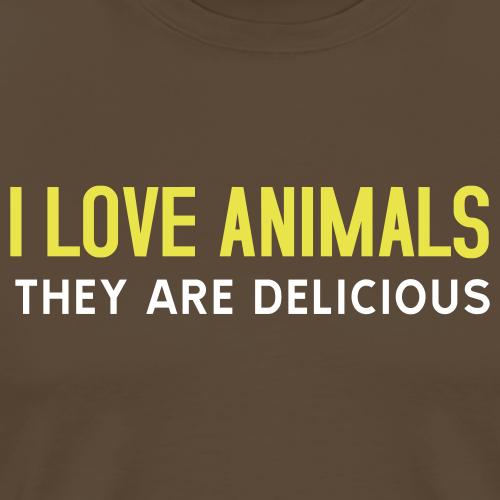 T-shirt, I love animals - Premium-T-shirt herr